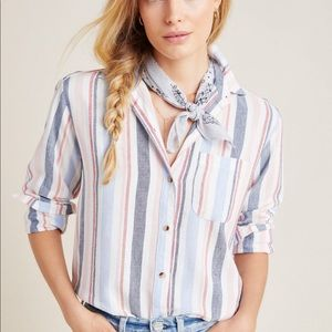 Anthropologie Maeve Striped Button Down